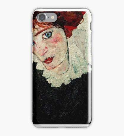 Egon Schiele - Portrait of Wally Neuzil 1912 Woman Portrait iPhone Case/Skin