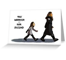 Walk the Walk - The Warrior and Her Second Greeting Card