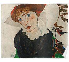Egon Schiele - Portrait of Wally Neuzil 1912 Woman Portrait Poster