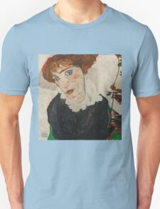 Egon Schiele - Portrait of Wally Neuzil 1912 Woman Portrait Unisex T-Shirt