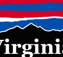 Virginia Red White and Blue Sticker