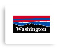 Washington Red White and Blue Canvas Print