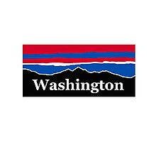 Washington Red White and Blue Photographic Print