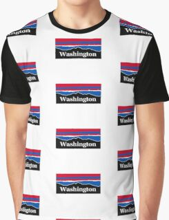 Washington Red White and Blue Graphic T-Shirt