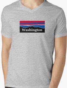 Washington Red White and Blue Mens V-Neck T-Shirt