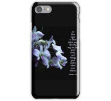 Let Your Light So Shine Floral Scripture Art iPhone Case/Skin