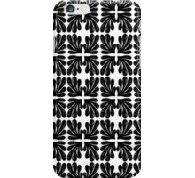 Black and white modern minimal ink painting pattern splash water  iPhone Case/Skin