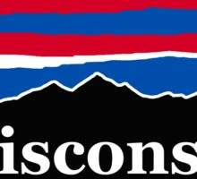 Wisconsin Red White and Blue Sticker