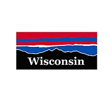 Wisconsin Red White and Blue Photographic Print