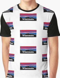 Wisconsin Red White and Blue Graphic T-Shirt
