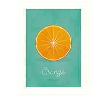 Orange (lucite green) - Natural History Fruits Art Print