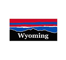 Wyoming Red Whit and Blue Photographic Print