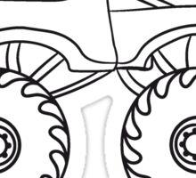 cool little monster truck Sticker