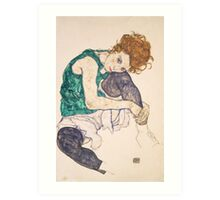 Egon Schiele - Seated Woman with Legs Drawn Up Adele Herms 1917 Art Print