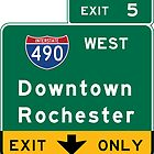 Rochester, Road Sign, New York by worldofsigns