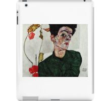 Egon Schiele - Self-Portrait with Chinese Lantern Plant 1912  Expressionism  Portrait iPad Case/Skin