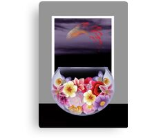 Floral Fish Bowl Canvas Print
