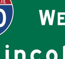 Lincoln, Road Sign, Nebraska Sticker