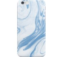 Hiroki - spilled ink abstract indigo navy blue water waves map maps topography swirl painting iPhone Case/Skin
