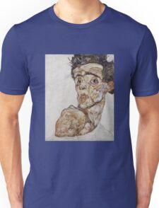 Egon Schiele - Self-Portrait with Raised Bare Shoulder 1912  Expressionism  Portrait Unisex T-Shirt
