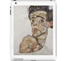 Egon Schiele - Self-Portrait with Raised Bare Shoulder 1912  Expressionism  Portrait iPad Case/Skin