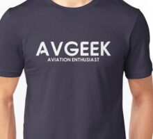 Aviation Geek Logo Unisex T-Shirt