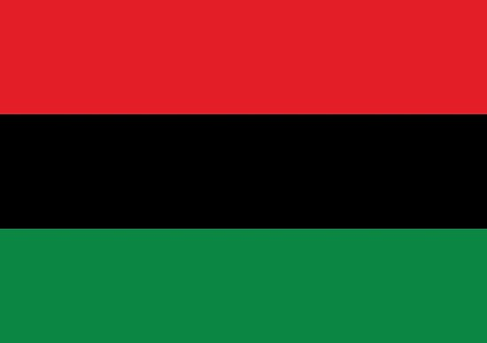 Red, Black & Green Flag by forgottentongue
