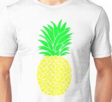 Modern Pop Art Green & Yellow Pineapples Unisex T-Shirt