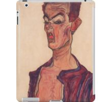 Egon Schiele - Self-Portrait, Grimacing 1910  Expressionism  Portrait iPad Case/Skin