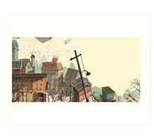Paper city Art Print