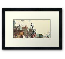 Paper city Framed Print