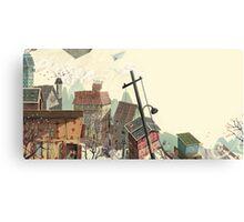 Paper city Metal Print