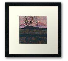Egon Schiele - Setting Sun 1913  Expressionism Landscape Framed Print