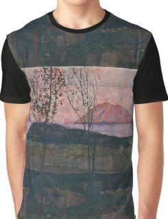 Egon Schiele - Setting Sun 1913  Expressionism Landscape Graphic T-Shirt