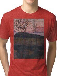 Egon Schiele - Setting Sun 1913  Expressionism Landscape Tri-blend T-Shirt