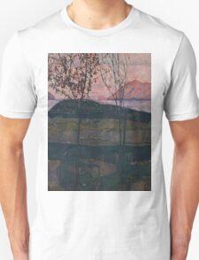 Egon Schiele - Setting Sun 1913  Expressionism Landscape Unisex T-Shirt