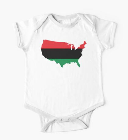 African American _ Red, Black & Green Colors One Piece - Short Sleeve