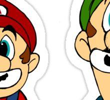 Hipster Mario Bros  Sticker