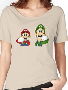 Hipster Mario Bros  Women's Relaxed Fit T-Shirt