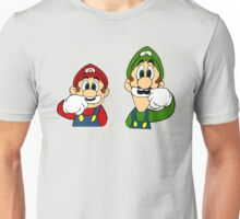 Hipster Mario Bros  Unisex T-Shirt