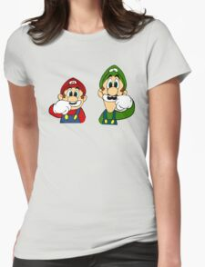 Hipster Mario Bros  Womens Fitted T-Shirt