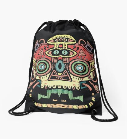 Alien tribe  Drawstring Bag