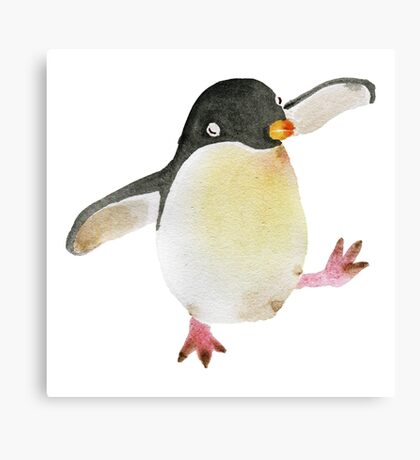 Dancing Penguin Canvas Print