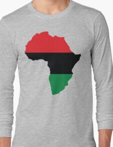 Red, Black & Green Africa Flag Long Sleeve T-Shirt