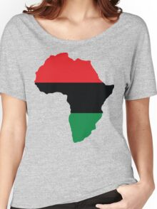 Red, Black & Green Africa Flag Women's Relaxed Fit T-Shirt