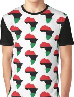 Red, Black & Green Africa Flag Graphic T-Shirt