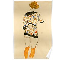 Egon Schiele - Standing Woman in a Patterned Blouse 1912 Poster