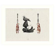 HOMBRES QUE DEVORAN HOMBRES (men devouring men) Art Print