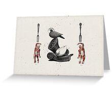 HOMBRES QUE DEVORAN HOMBRES (men devouring men) Greeting Card
