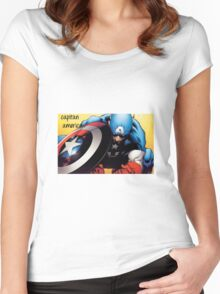 capitan america Women's Fitted Scoop T-Shirt